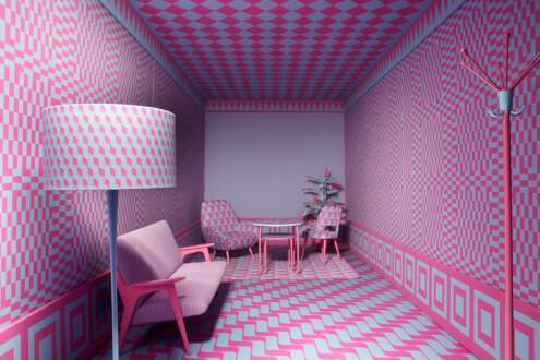 The Beauty Show - MAK Exhibition View, 2018. <i>Colour Room</i>, 2018.