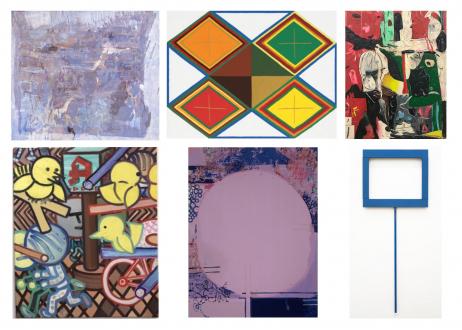 Painting in due time – Scott Anderson, Lydia Dona, Denzil Hurley, Harriet Korman, Hanneline Røgeberg, Marcus Weber - Thomas Erben Gallery