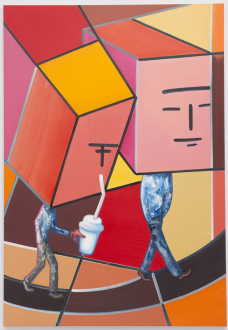 Marcus Weber – C&A - Robert & Frank, 2013. Oil on Canvas, 63 x 45.25 in.