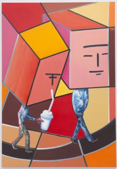 Marcus Weber – C&A - Robert & Frank, 2013. Oil on Canvas, 63 x 45.25 in.
