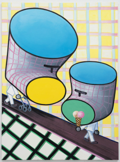 Marcus Weber – C&A - Werner & Albert, 2013. Oil on Canvas, 61 x 43 in.