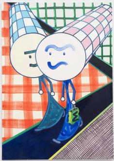 Marcus Weber – C&A - Selin & Dilara, 2013. Oil on Canvas, 61 x 43 in.