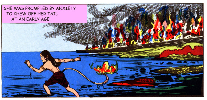 Tales of Amnesia - <i>Chewed off her tail</i> (panel 2, <i>Tales of Amnesia</i>), 2002/07. Digital C-print, 8.25 x 17.25 in.