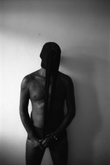 PAT – Unseen, unheard, unexplained - PAT Untitled (Man in Stockings), 2008. Gelatin silver print, 23.5 x 16 in (image size), ed. of 7.