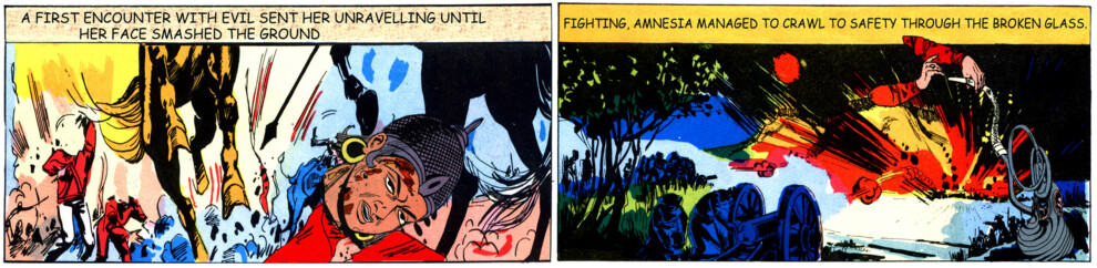 Tales of Amnesia - <i>First encounter</i> (panel 6, <i>Tales of Amnesia</i>), 2002/07. Digital C-print, 10 x 40 in.