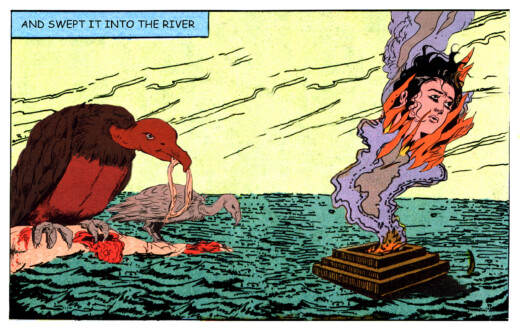Tales of Amnesia - <i>Swept into the river</i> (panel 5, <i>Tales of Amnesia</i>), 2002/07. Digital C-print, 10 x 16 in.