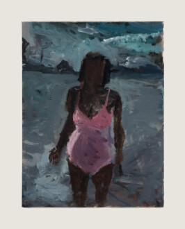 Pink Bathing Suit - <i>Pink Bathing Suit #1</i>, 2012. Oil on canvas, 12 x 9 in.