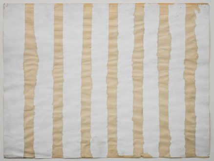 Harriet Korman Notes on Painting: 1969 – 2019 - <i>Untitled</i>, 1971. Gesso and crayon on paper, 20.11 x 26.12 in.