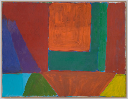 Harriet Korman Notes on Painting: 1969 – 2019 - <i>Untitled</i>, 1978. Oil on canvas, 28 x 36 in.