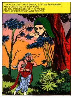 Tales of Amnesia - <i>Saw you on the subway</i> (panel 13, <i>Tales of Amnesia</i>), 2002/07. Digital C-print, 28 x 21 in.
