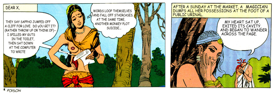 Tales of Amnesia - <i>Dear X, my heart</i> (panel 15, <i>Tales of Amnesia</i>), 2002/07. Digital C-print, 20 x 34 in.