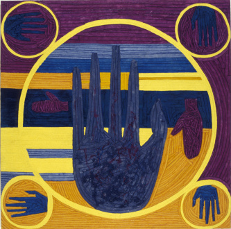 Dona Nelson - <i>The Palmist Reveals the Future of Painting</i>, 1992.