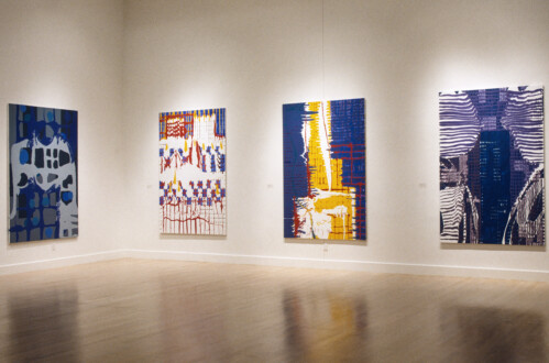 Dona Nelson: The Stations of the Subway, Octopuses and Arrangements, Weatherspoon Art Museum, Greensboro, NC - Installation view. Courtesy of the Weatherspoon Art Museum, University of North Carolina at Greensboro.