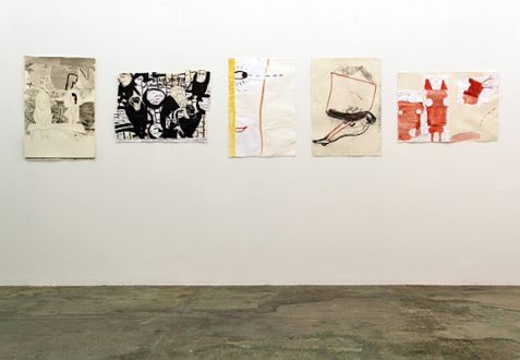 Animate Matter – Pia Maria Martin, Dona Nelson, Richard Staub, Rose Wylie - Installation view: Rose Wylie.