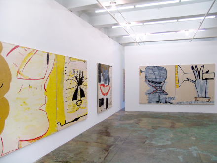 Rose Wylie – What with What - Installation view, west and north wall.
