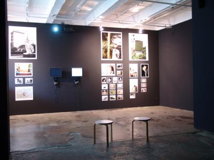 Focus Shanghai – Lu Chunsheng, Birdhead - Installation view: Song Tao (videos: Four Country, 2007 and Three Days Ago, 2005) and Birdhead (photographs: Xin Cun, 2010).