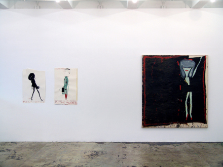 Rose Wylie – What with What - Installation view, east wall.