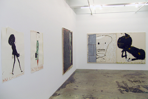 Rose Wylie – What with What - Installation view, east and south wall.