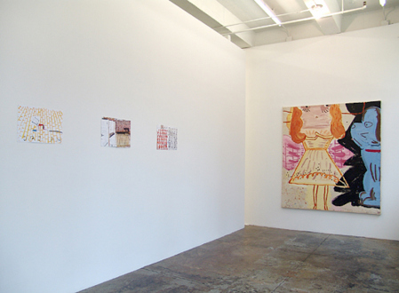 Rose Wylie – What with What - Installation view, project space.