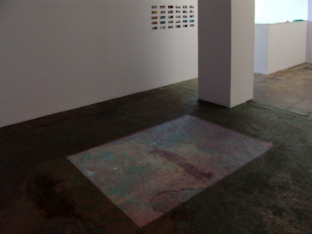 Nadia Khawaja – Drawings – Videos- Photographs - Nadia Khawaja - installation view, floor by north wall.