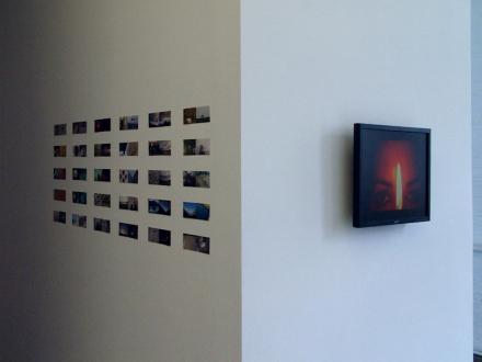 Nadia Khawaja – Drawings – Videos- Photographs - Nadia Khawaja - installation view, corner of north wall.
