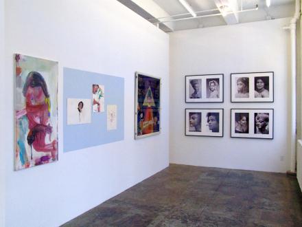 15 Years Thomas Erben - Installation view, project space (from left): Haeri Yoo, Ala Dehghan, Blalla Hallmann, Lorraine O'Grady.