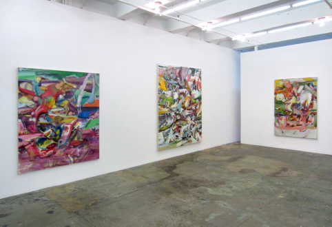 Haeri Yoo – Running Pit - Installation view, west and north wall.