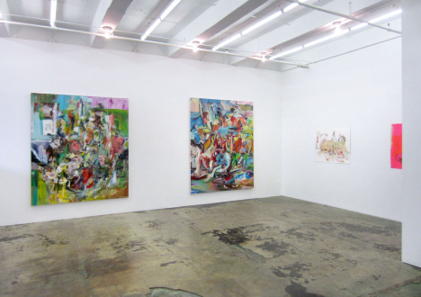 Haeri Yoo – Running Pit - Installation view, east and south wall.
