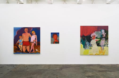 Painting Forward – Joan Brown, Charles Garabedian, Jackie Gendel, Haley Josephs, , Kyle Starver - Installation view