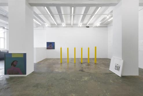 Soft Haze – Xinyi Cheng, Nabuqi, Ali Van - Installation view, east wall.