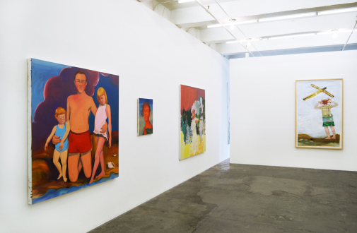 Painting Forward – Joan Brown, Charles Garabedian, Jackie Gendel, Haley Josephs, , Kyle Starver - Installation view