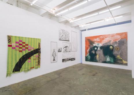 Los Angeles Bound – Diedrick Brackens, Thomas Lawson, Tiffany Livingston, Mark Roeder - Installation view: north and west walls