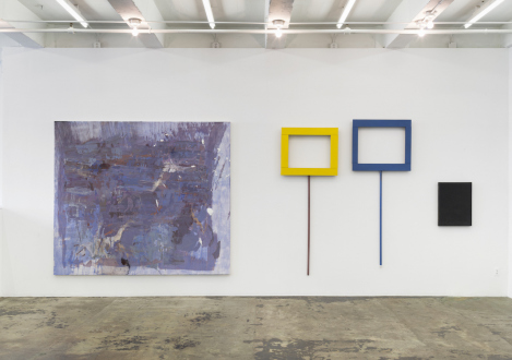 Painting in due time – Scott Anderson, Lydia Dona, Denzil Hurley, Harriet Korman, Hanneline Røgeberg, Marcus Weber - Installation view: East wall