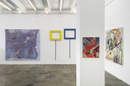 Painting in due time – Scott Anderson, Lydia Dona, Denzil Hurley, Harriet Korman, Hanneline Røgeberg, Marcus Weber - Installation view: East and South walls
