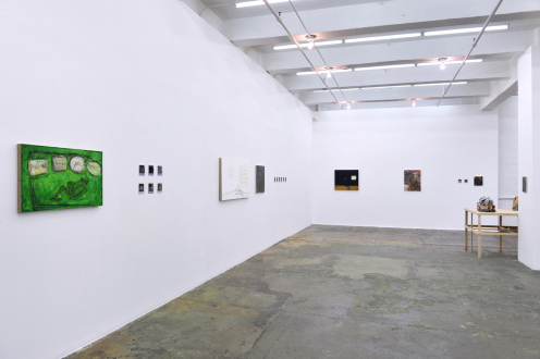 are you dead, yet? – Horst Ademeit, Jason Eberspeaker, Kahlil Robert Irving, Mira Schor - Installation view: west and north walls