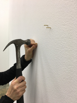 Weather Trust / Between Stars: Offer Balancing Scenarios – Ali Van - Installation, Caroline placing a star for her son Gregory, his wife Jingyi, and their first daughter Lia, Courtesy of the artist