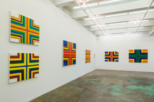 Harriet Korman – Permeable/Resistant: Recent Drawings and Paintings - Installation view: West and North walls