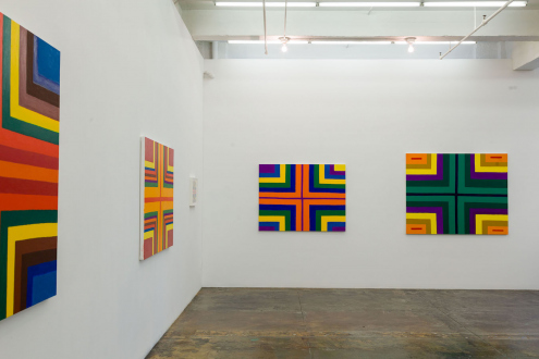 Harriet Korman – Permeable/Resistant: Recent Drawings and Paintings - Installation view: North and West wall