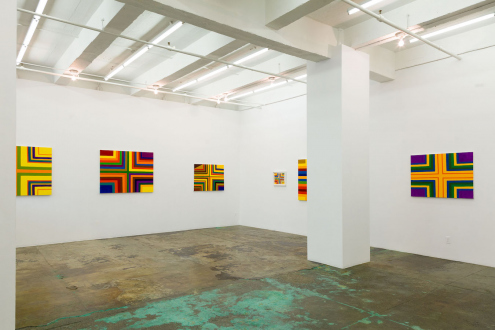Harriet Korman – Permeable/Resistant: Recent Drawings and Paintings - Installation view: East and South wall