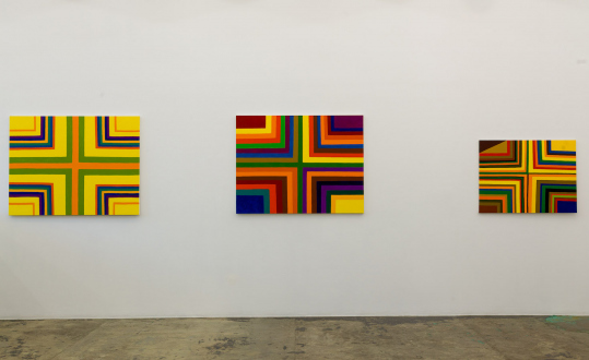 Harriet Korman – Permeable/Resistant: Recent Drawings and Paintings - Installation view: East wall