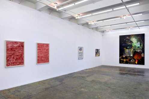Spirited Densities – Ryan McLaughlin, Zach Nader, Ferdinand Penker, Emma Webster - Installation view: west and north