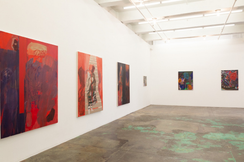 Jackie Gendel – Stained Glass Cliff - north and west walls, installation view.
