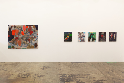 Jackie Gendel – Stained Glass Cliff - east wall, installation view.