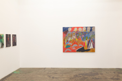 Jackie Gendel – Stained Glass Cliff - south wall, installation view.