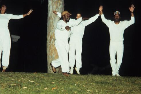 Performance Photographs - <i>Flying 5</i>, 1982/2014. Digital Print 7 ½ × 9 ¼ inches (19.05 × 23.50 cm)