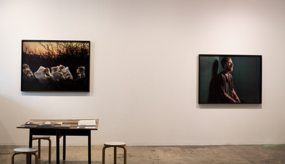 For The Sake of Calmness - Installation view, East wall. Photograph by Kwesi Floyd.