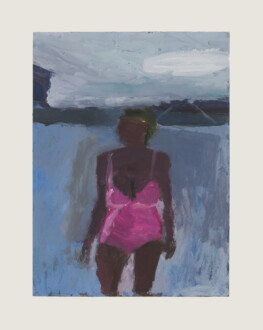 Pink Bathing Suit - <i>Pink Bathing Suit #5</i>, 2018. Oil on panel, 16 x 12 in.