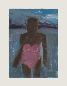 Pink Bathing Suit - <i>Pink Bathing Suit #6</i>, 2019. Oil on board, 7 x 5 in.