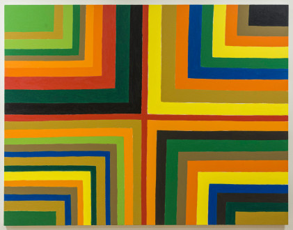 Harriet Korman Notes on Painting: 1969 – 2019 - <i>Untitled</i>, 2016. Oil on canvas, 48 x 60 in.