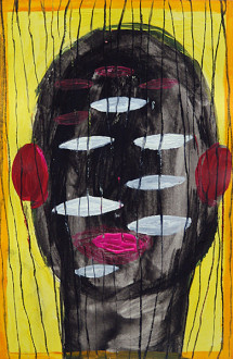 Ala Dehghan I Can Explain Everything - Ala Dehghan, from series: <i>Hands</i>, 2009. Mixed media on paper, 24.5 x 16 cm.